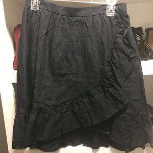 JCrew Linen Skirt. Navy Blue